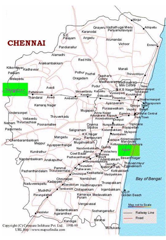 Chennai PIN CodesMap